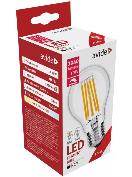 LED Filament E27 Fényerő szabályzós Gömb izzó 10W - Meleg fehér
