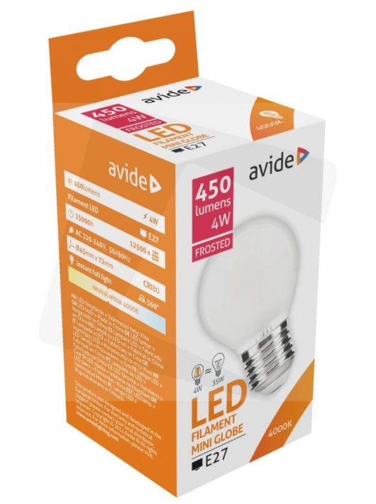 LED Filament E27 Mini Gömb izzó 4W - Napfény fehér