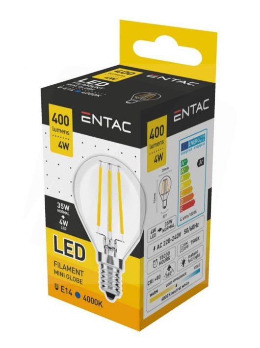 LED Filament Mini izzó 4W E14 - Napfény fehér