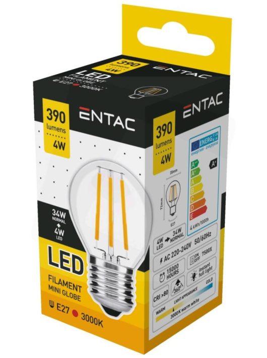 LED Filament Mini izzó 4W E27 - Meleg fehér