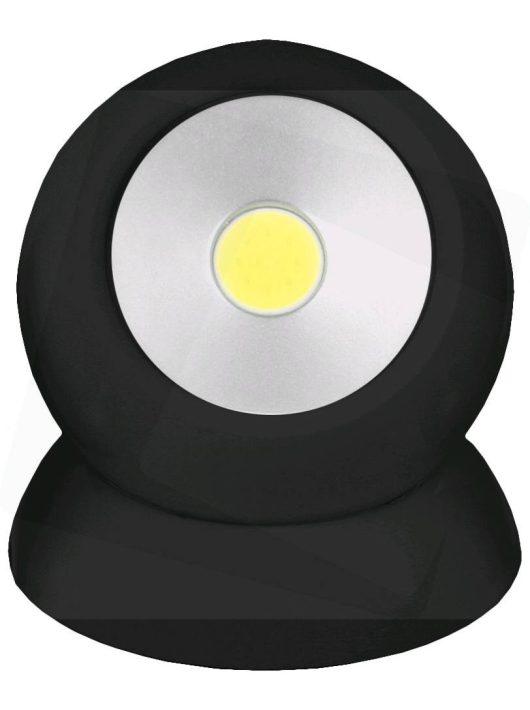 Elemlámpa Fali Mágneses 1W Fekete