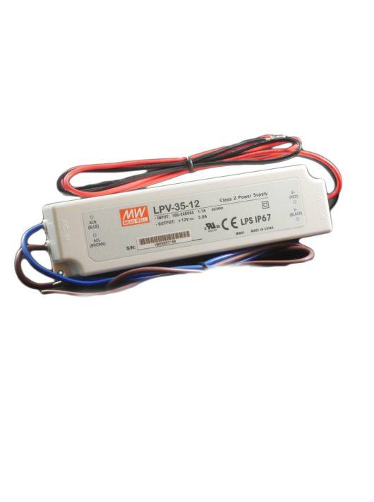 LED Tápegység 12V/3A Kültéri - 36 Watt