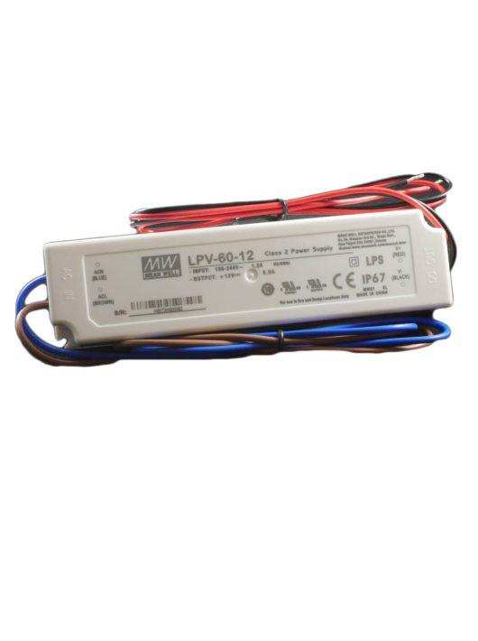LED Tápegység 12V/5A Kültéri - 60 Watt