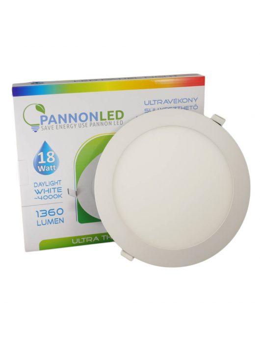 Mini LED panel - 18 Watt - Napfény fehér, kerek, süllyeszthető