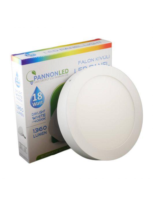 Mini LED panel - 18 Watt - Napfény fehér, kerek, falon kívüli