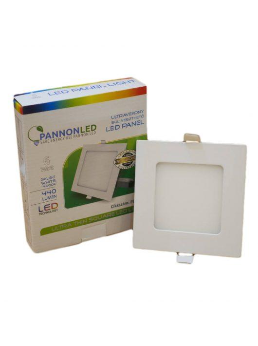 Mini LED panel - 6 Watt - Napfény fehér, szögletes, falon kívüli