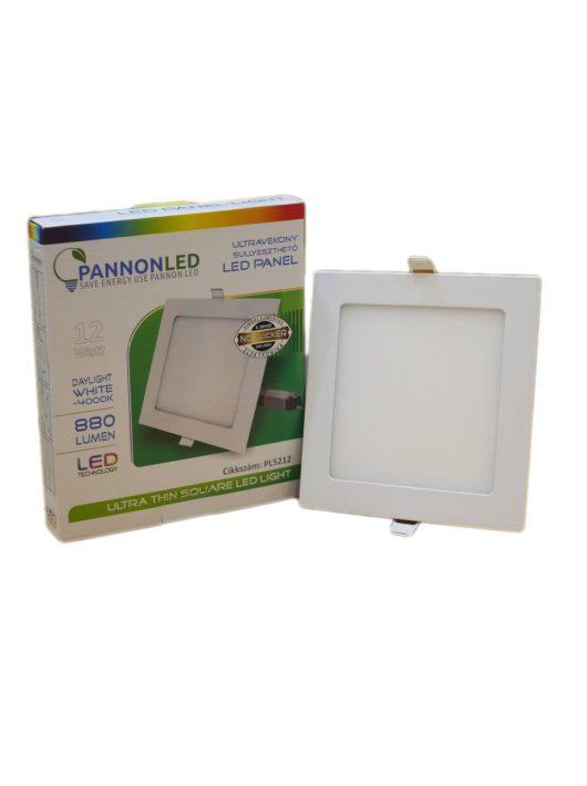 Mini LED panel - 12 Watt - Napfény fehér, szögletes, süllyeszthető