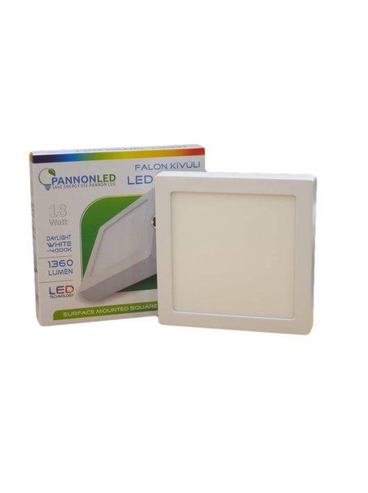 Mini LED panel - 18 Watt - Napfény fehér, szögletes, falon kívüli